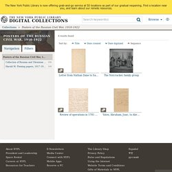 Posters of the Russian Civil War, 1918-1922 - NYPL Digital Collections
