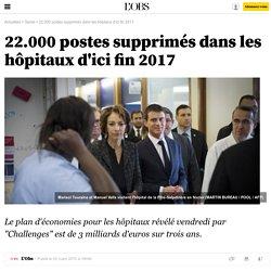 22.000 postes supprimés dans les hôpitaux d'ici fin 2017 - 2 mars 2015