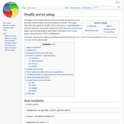 Postfix server setup - Smith family