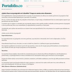 ¿Quiere hacer un postgrado en Colombia? Tenga en cuenta estos elementos - Archivo - portafolio.co
