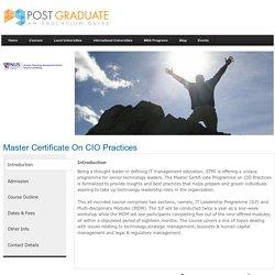 Singapore - - Healthcare & Sciences - Master Certificate on CIO Practices