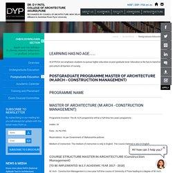 Dr. DY Patil Postgraduate Education