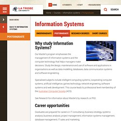 Information Systems, Science, Technology and Engineering, La Trobe University
