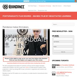 Postgraduate Film Degree - MA/MSc Film by Negotiated Learning - Raindance