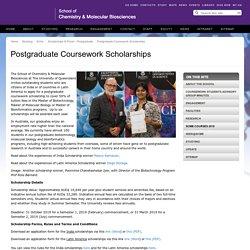 Postgraduate Coursework Scholarships - School of Chemistry & Molecular Biosciences - The University of Queensland, Australia