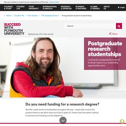 Postgraduate research studentships