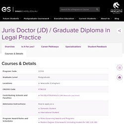 Juris Doctor (JD) / Graduate Diploma in Legal Practice - Details - Postgraduate study at the University of Newcastle