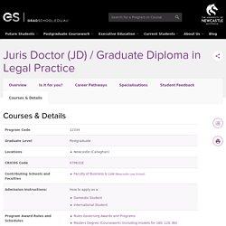 Juris Doctor (JD) / Graduate Diploma in Legal Practice - Details - Postgraduate study at the University of Newcastle