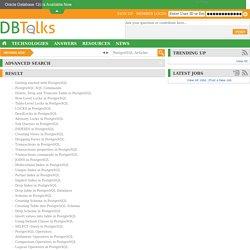PostgreSQL Articles