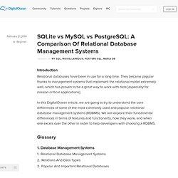 SQLite vs MySQL vs PostgreSQL: A Comparison Of Relational Database Management Systems