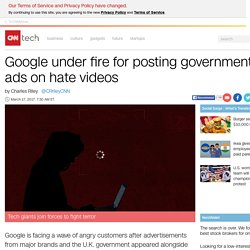 Google under fire for posting government ads on YouTube hate videos - Mar. 17, 2017