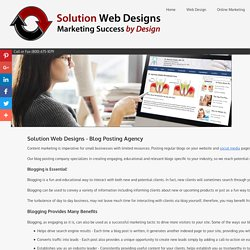 Blog Posting Service Solution Web Designs