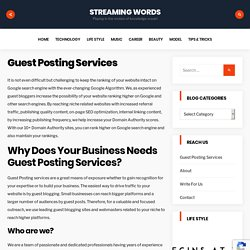 Guest Post Service India - Streaming Words
