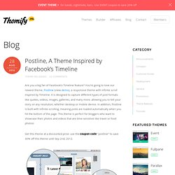 Postline, A Theme Inspired by Facebook's Timeline