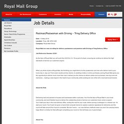 Postman/Postwoman with Driving - Tring Delivery Office