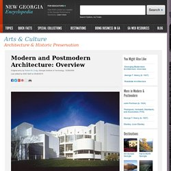 Modern and Postmodern Architecture: Overview
