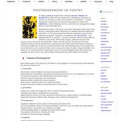 postmodernism in poetry