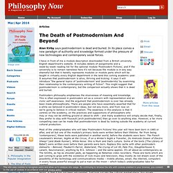 The Death of Postmodernism And Beyond