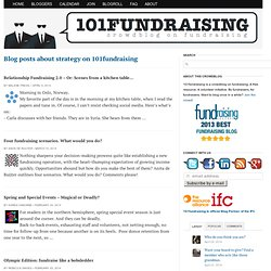 Blog posts about strategy on 101fundraising