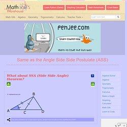 SS - Angle Side Side