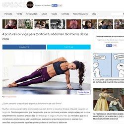 4 posturas de yoga para tonificar tu abdomen fácilmente desde casa