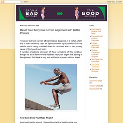 Reset Your Body into Correct Alignment with Better Posture