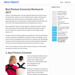 Best Posture Corrector Reviews in 2017