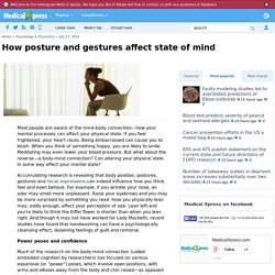 How posture and gestures affect state of mind