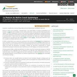 POSTURE DE MAITRE COACH SYSTEMIQUE