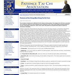 Postures of the Cheng Man-Ching Tai Chi Form