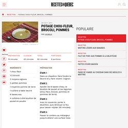 Potage chou-fleur, brocoli, pommes