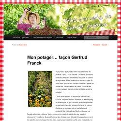 Mon potager… façon Gertrud Franck
