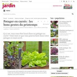 Potager en carrés : les bons gestes du printemps - Détente Jardin