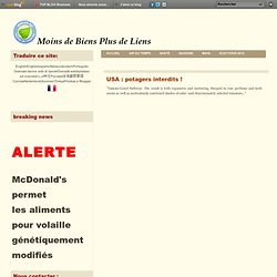 USA : potagers interdits !