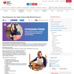 How Potassium Can Help Control High Blood Pressure