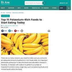 Top 10 Potassium-Rich Foods & Potassium Benefits