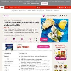 Grillad torsk med potatissallad och sockergrillad lök