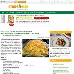Best Make Ahead Potato Breakfast Casserole