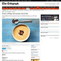 Potato, cabbage and sausage soup recipe
