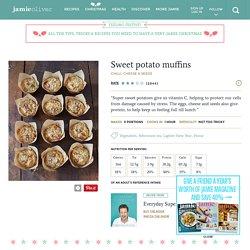 Sweet potato , Chili, Seed & Cheese Muffins