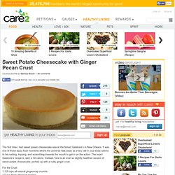 Sweet Potato Cheesecake with Ginger Pecan Crust
