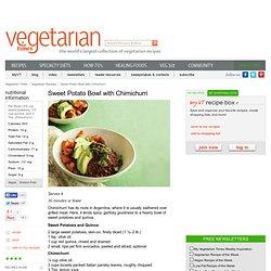 Vegan Sweet Potato Bowl with Chimichurri