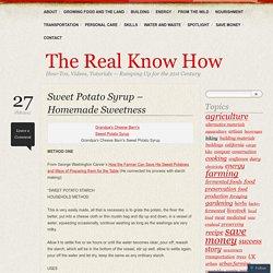Sweet Potato Syrup – Homemade Sweetness