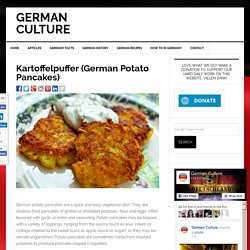 Potato Pancakes - German Recipes