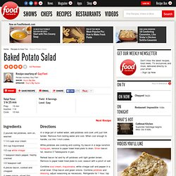 Baked Potato Salad Recipe : Guy Fieri