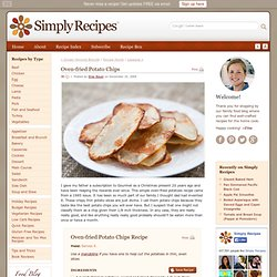 Oven-fried Potato Chips Recipe