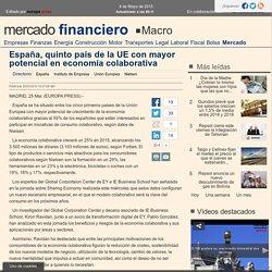 España, quinto país de la UE con mayor potencial en economía colaborativa