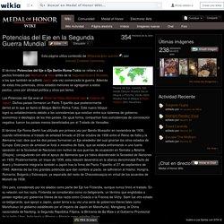 Potencias del Eje en la Segunda Guerra Mundial - Medal of Honor Wiki