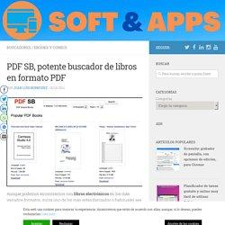 PDF SB, potente buscador de libros en formato PDF - Soft & Apps