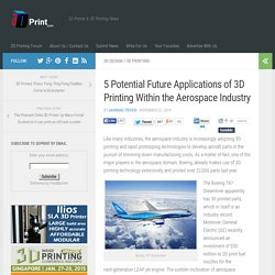 5 Potential Future Applications of 3D Printing Within the Aerospace Industry